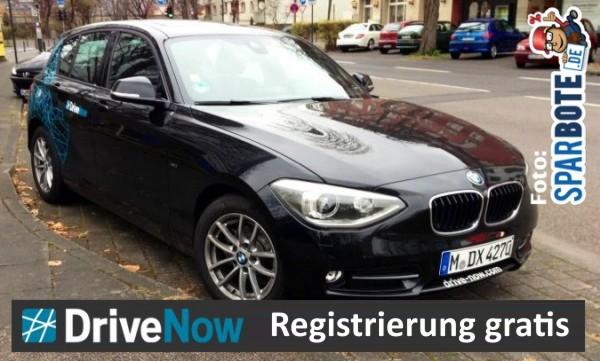 DriveNow Registrierung kostenlos