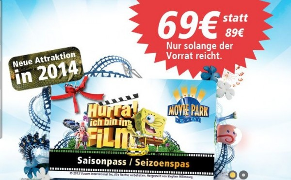 movie park tickets sparbote schn ppchen. Black Bedroom Furniture Sets. Home Design Ideas