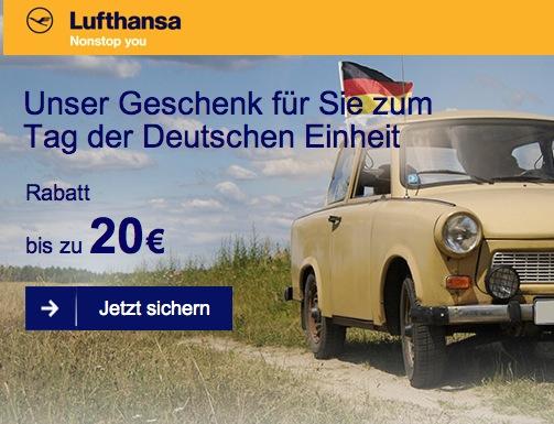 Lufthansa 20 € Gutschein