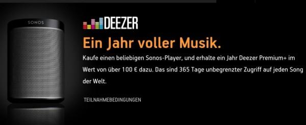 Sonos Deezer gratis