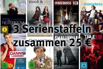3 TV Staffeln 25 €