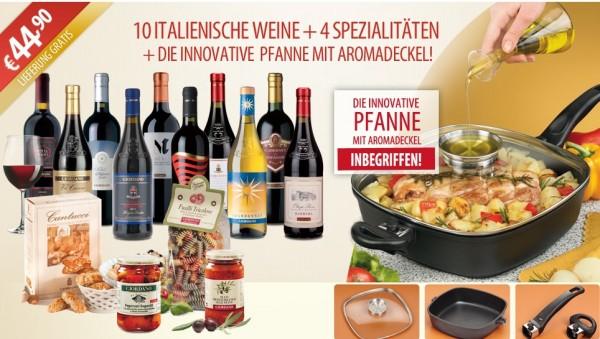 Giordano Weinpaket mit Pfanne