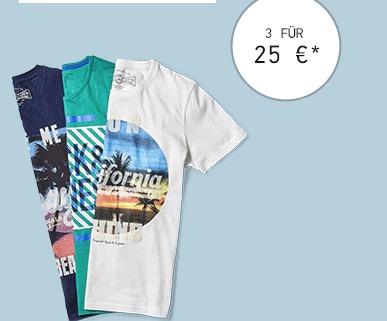 3 T-Shirts 25 €