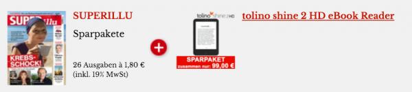 SuperIllu Abonnement mit Tolino Shine