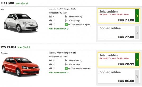 Europcar Beispiel