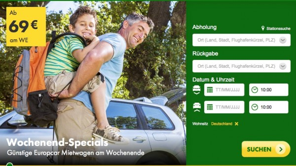 Europcar Wochenend miete