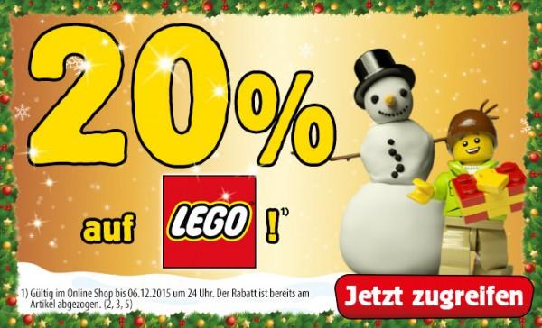 20 % Rabatt auf LEGO