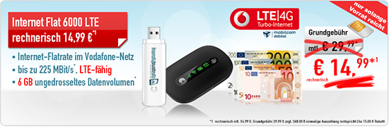 Vodafone 6GB Datenflat