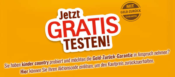 kinder country gratis test