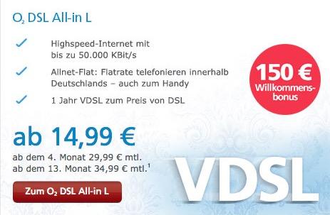 o2 VDSL Angebote