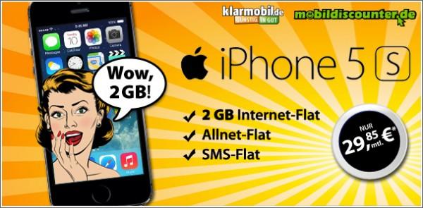 Klarmobil Allnet mit iPhone 5S