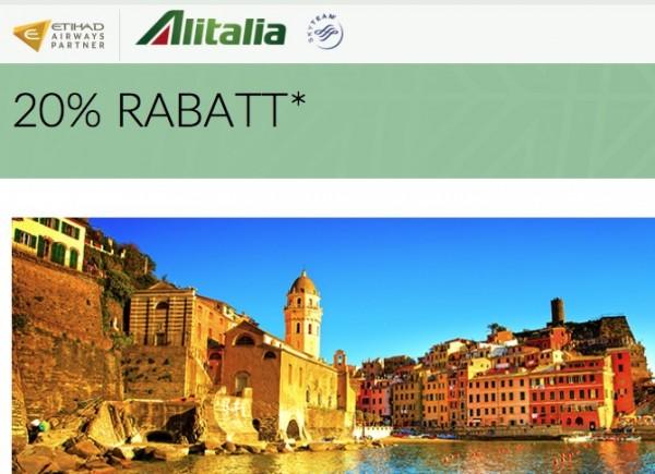 Alitalia 20 % Rabatt
