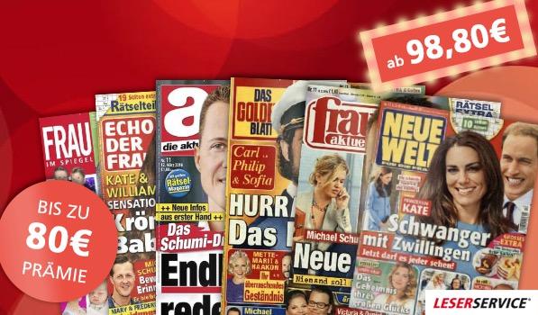 Frauenzeitschriften günstig