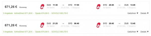 Sydney Flüge günstig