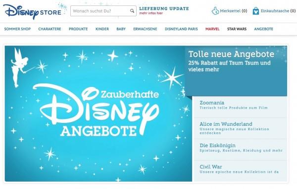 DisneyStore 20 % Rabatt