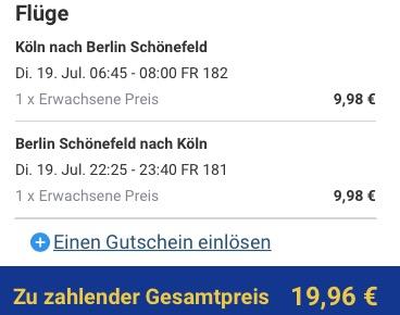 Ryanair Flüge nach Berlin