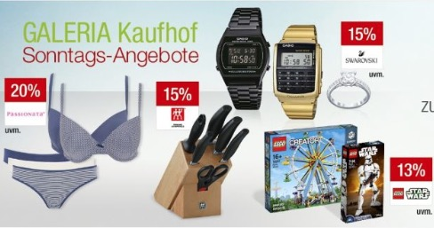 Galeria Kaufhof Sonntag