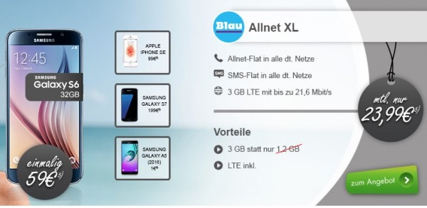 Blau Tarif mit LTE