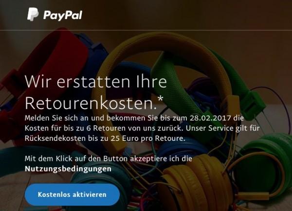 Retouren bei Paypal