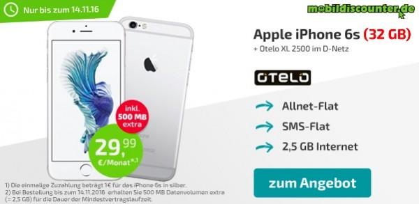 iPhone 6S mit otelo