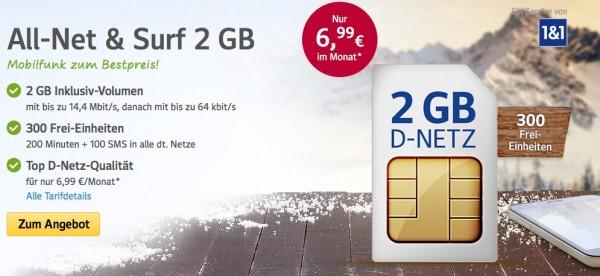 1&1 GMX All-Net & Surf 2GB