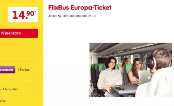 FlixBus Europa Ticket