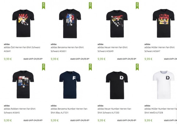 adidas Fan Shirts