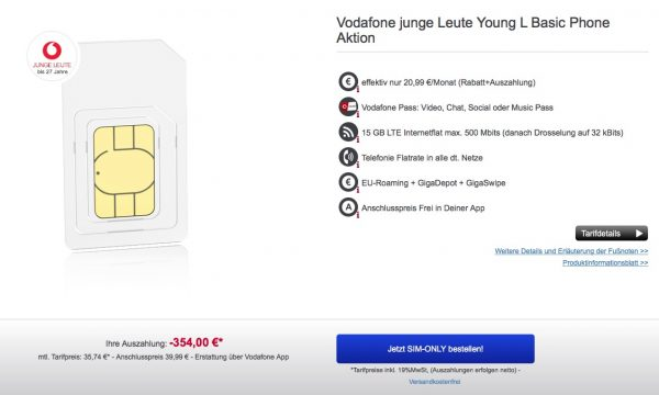 Vodafone Young L