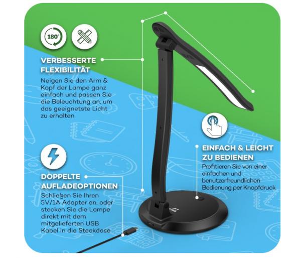2017-12-08 11_21_26-Schreibtischlampe LED TaoTronics Tischlampe One-Touch Bedienung, 5500-6000K, dim