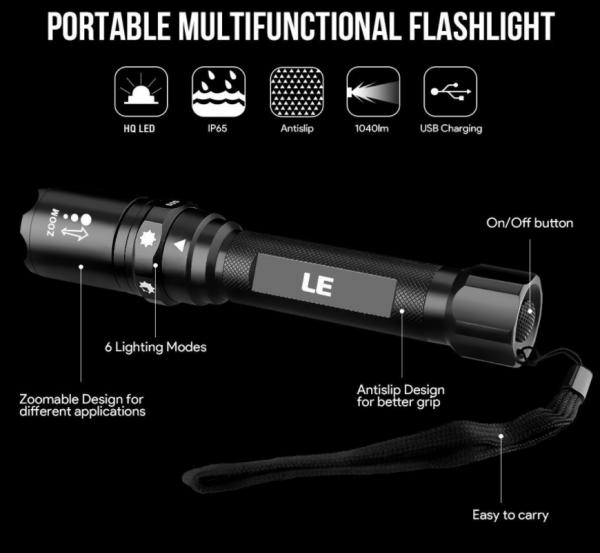 2018-03-02 10_30_58-LE USB aufladbare Taschenlampe 1040lm LEDs einstellbaren Fokus 6 Lichtmodi Inklu