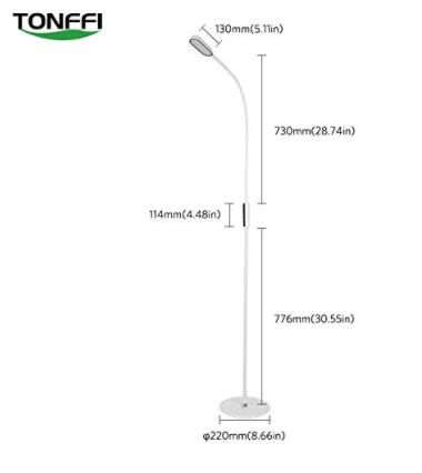 2018-03-06 09_46_01-Tonffi® Stehleuchte LED dimmbar 9W mit Fernbedienung 720LM Standlampe mit 3 Farb