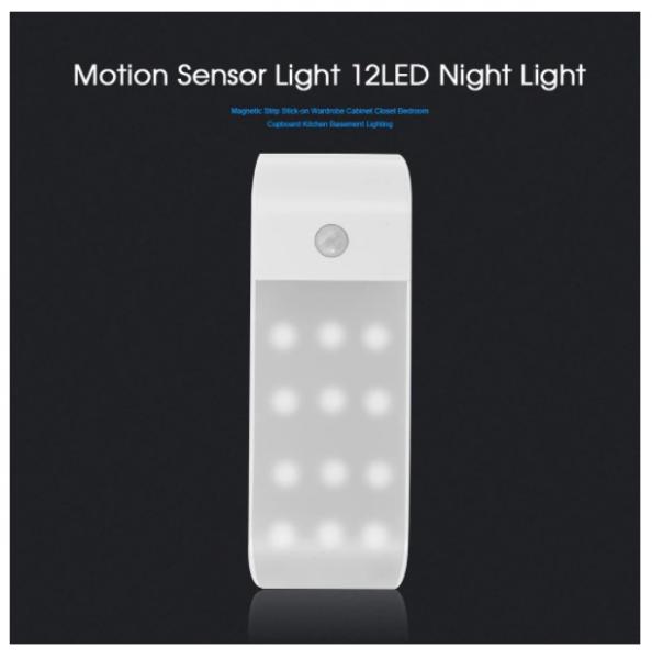 motion sensor light 12 led magnetic strip f r 7 66 inkl versand sparbote schn ppchen. Black Bedroom Furniture Sets. Home Design Ideas