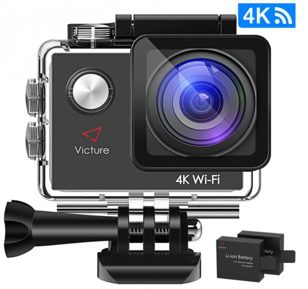 victure action kamera 16 mp 4k wifi f r 48 99 inkl. Black Bedroom Furniture Sets. Home Design Ideas