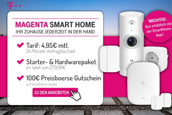 telekom magenta smart home system f r 4 95 monat mit. Black Bedroom Furniture Sets. Home Design Ideas
