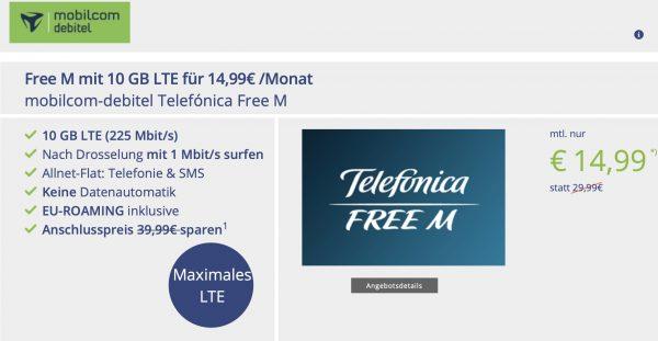 md telef nica free m allnet flat f r 14 99 monat mit. Black Bedroom Furniture Sets. Home Design Ideas